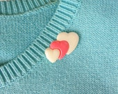 Vintage Style Heart Brooch Pin