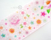 Taiwan Designers personal special order washi paper masking tape - Limited Edition pink 芍藥 Paeonia lactiflora 1 ROLL