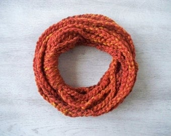 SALE! Infinity Scarf - Loop Scarf - Circle Scarf - Cowl Scarf - Chunky - Copper Shades