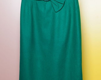 Vintage pin up pencil skirt // 50s // M size