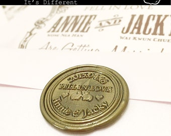 Personalised Wax Seal Stamp, custom made with FREE SHIPPING