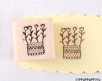 50% OFF SALE Flower Rubber Stamp