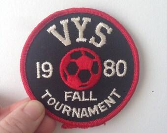 Vintage VYS Fall Soccer Tournament Patch//1980