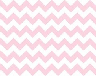 Riley Blake Fabric - 1 Metre Small Chevron in Pink