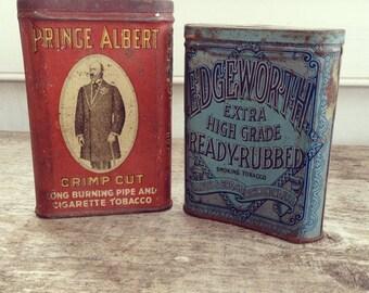 Prince Albert & Edgeworth Tins