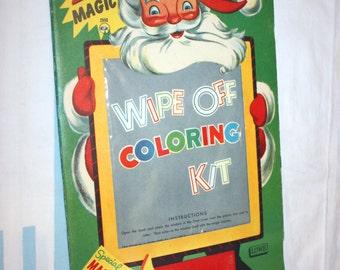Santa's Magic Wipe Off Coloring Kit