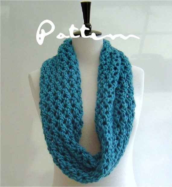Knitting Pattern Infinity Scarf Quick And Easy Knitting