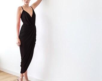 RESERVED TO JULIA - Maxi straps black dress 1033
