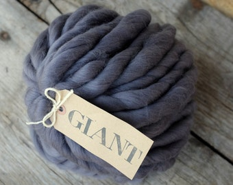 "MERINO - GIANT yarn - Handspun Yarn - 10,5 oz / 300gr - Blanket Yarn- Super Chunky Yarn ""SOURIS"""