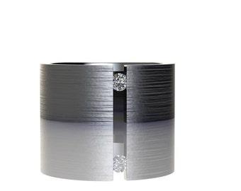 Tension Set Titanium Band with Single White Diamond