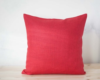 Red pillow cover - Decorative pillow case - Red Wedding pillows collection - Sofa Pillows. Home Decor .Toss Pillow .Accent Pillows    0048