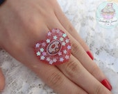 I Heart Donuts resin adjustible Ring
