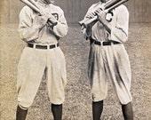 Vintage Baseball Photo - Ty Cobb and Joe Jackson - Detroit - Clevland - Old Vintage Photo Reprinte
