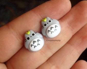 Super Cute Chibby Totoro Earrings