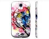 Samsung Galaxy s4 Case - S4 case - Samsung case - Watercolor art - Bird art - Bird phone case - Case for the S4 - Cell phone cover