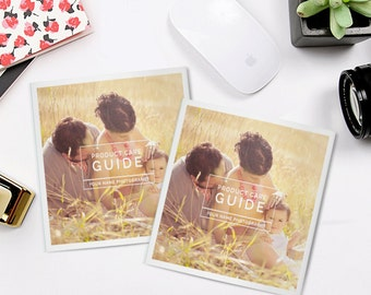 Product Care Guide for Clients, Photography Templates | Care for Me - PCG104