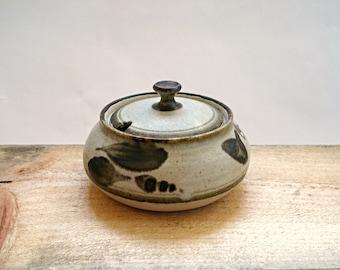 Studio Pottery Lidded Pot, Sugar Bowl