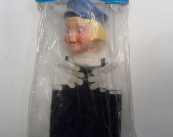 Vintage Dutch Boy Paint Advertising Hand Puppet Doll In Original Package New Old Stock