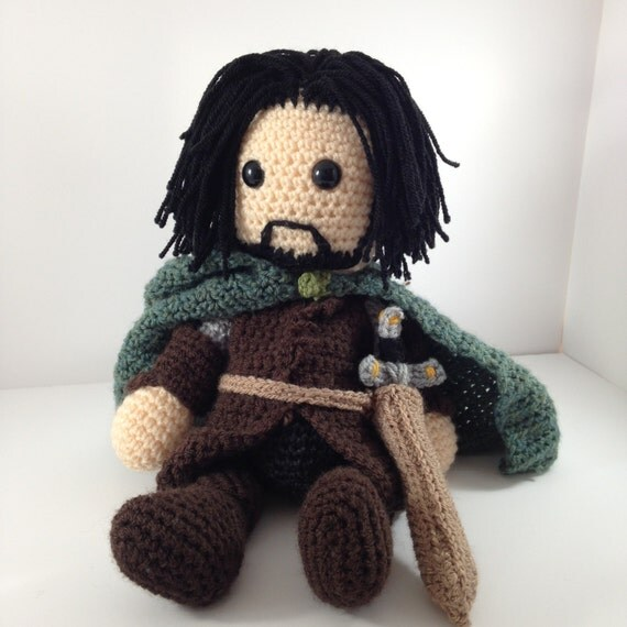 Amigurumi Magische Ring : Aragorn Lord of the Rings Inspired Amigurumi Crochet