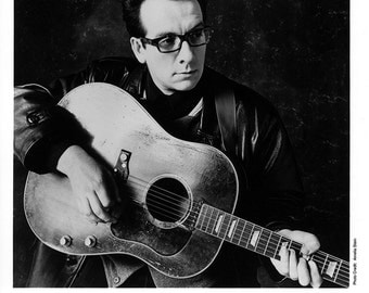 Elvis Costello Publicity Photo  8 by 10 Inches