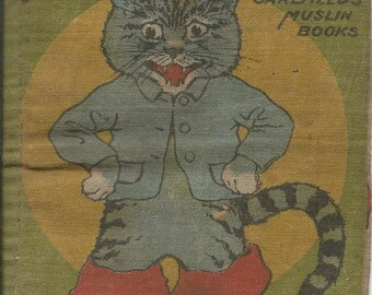 VIntage Saalfield Fabric Puss in Boots Children's Book