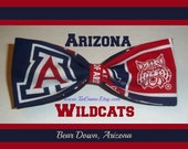 BowTie Made From The University of Arizona Fabric - Great Looking Bow Tie for a Great Team - Go WILDCATS - And U.S.SHIPPlNG ALWAYS ONLY 1.99