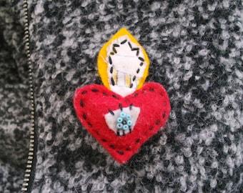 Sacred Heart Brooch