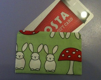Presentation Gift Card Envelope (set of 5) quirky hand sewn