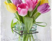 Tulips in a Jar, Fine Art Photography, Flower Photography, Floral Photography, Botanical Photography