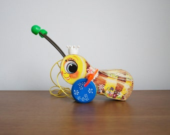 Vintage Fisher Price  - Pull toy - Bee - SALE