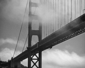 Golden Gate Bridge Black and White 16x20 Fine Art Print