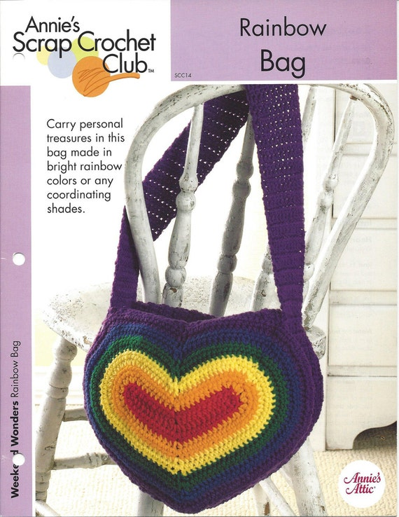 Crochet Rainbow Bag : Rainbow Bag - Annies Scrap Crochet Club - Pattern Crochet Bag ...