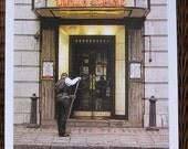 London - Langan's Brasserie, Mayfair - limited edition screenprint