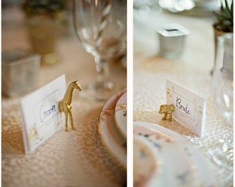 Make your own custom WEDDING set of Animal magnetic escort card holders