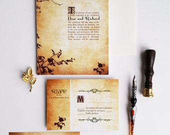 Vintage Wedding Invitation sample - elegant wedding invitation set - {Taylorsville design}