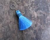 Ocean Blue Silk Tassel Keychain Beaded Keychain Silk tassel Decorative tassel Long Tassel Thick Tassel Neon Tassel Luxury Tassel