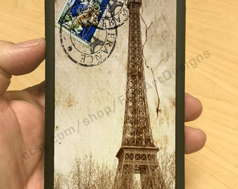 iPhone Case Eiffel Tower Sepia Vintage Blue Stamp iPhone 6/6+ iPhone 5/5s iPhone 4/4s