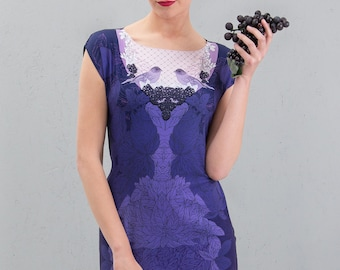 Blackberry marmalade -  chiffon tunic