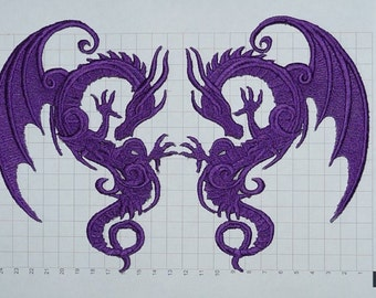 Embroidered Dragon Motif / Patch / Badge / Applique - Lots of Colour Choices