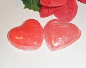Red heart shaped glycerin soap; Lavender scented spa soap; Moisturizing sandalwood soap; Vitamin E infused glycerin soap; stocking stuffers