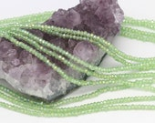 Lot of 5 strands 3x2mm Green AB Chinese Glass Rondelle Loose Spacer Beads 100 beads/strand (BH5135)