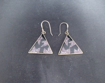 Beautiful and interesting pair of silver and stone earrings.