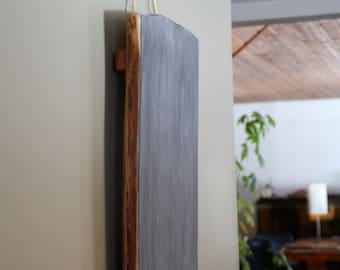 Large Hanging Chalkboard- Live Edge Wall Chalkboard - Hardwood Wall Hung Chalkboard - Rustic Kitchen Chalkboard