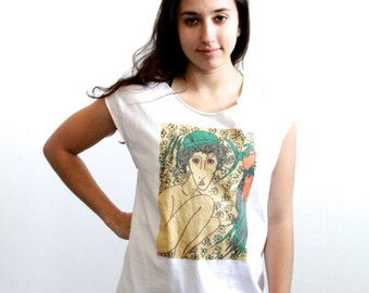 vintage 90s picaso style WATERCOLOR impressionist tank top
