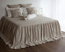 Unique Ruffled Bed Skirt Related Items Etsy