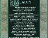 BEAUTY. The Human response to Beauty is Joy. We are attracted to the truth of it. SET of Three Prints 8 X 10