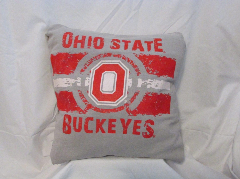Ohio State Buckeyes Throw Pillow By Mypeacelovelifeshop On