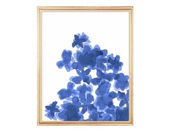 Indigo Watercolor Flowers Art Print 8x10, Watercolor Painting, Indigo  Garden, Navy Floral Art, Blue Flower Painting, Indigo Art Print