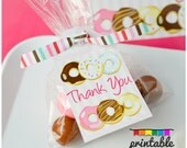 On sale INSTANT DOWNLOAD DONUT Party Favor Tags - Please Read Description Thoroughly - Printable Parties to Go