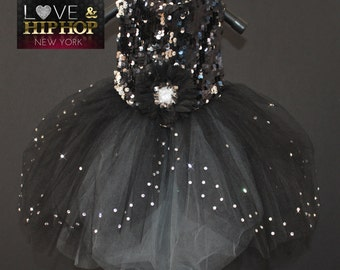 Night On The Town Sparkle Tutu Sequin Dog Dress (As Seen On VH1 Love & Hip Hop NY)